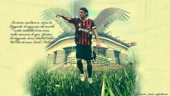 Soccer athletes ac milan paolo maldini football player wallpaper