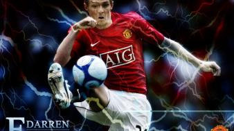 Soccer athletes football player darren fletcher wallpaper