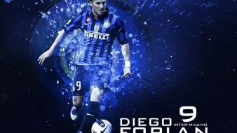 Soccer diego forlan football player wallpaper