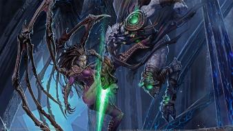 Starcraft fantasy art sarah kerrigan queen of blades wallpaper