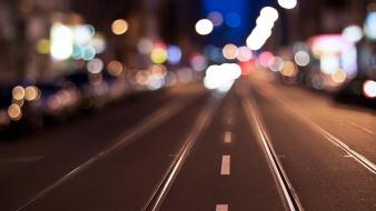 Streets urban traffic city lights Wallpaper