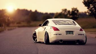 Sunset sun cars nissan fairlady z33 350z wallpaper