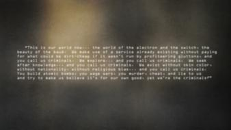 Text hackers manifesto blurred Wallpaper