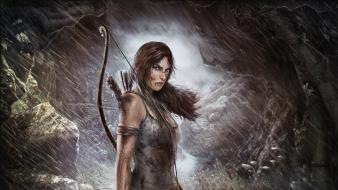 Tomb raider wet lara croft artwork survivor wallpaper