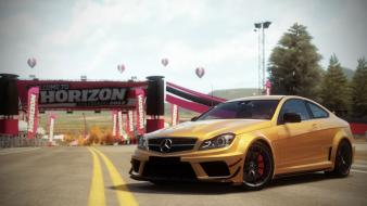 Video games c63 amg forza horizon mercedes black wallpaper