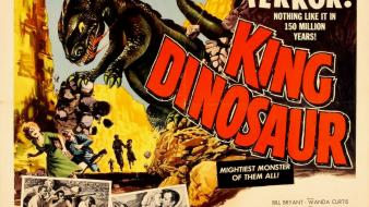 Vintage king cinema movie posters dinosaur wallpaper
