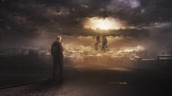 War bombs nuclear explosions apocalyptic wallpaper
