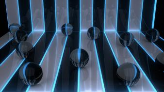 Abstract balls digital art stripes wallpaper