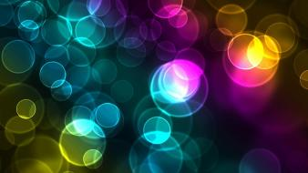 Abstract cgi bubbles rainbows digital art wallpaper