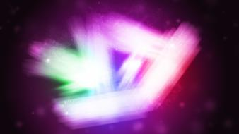 Abstract lights multicolor digital art colors triangles wallpaper