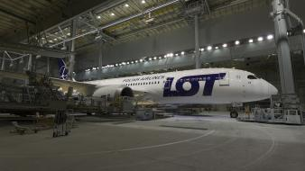 Aircraft boeing lot 787 dreamliner polish airlines wallpaper