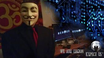 Anonymous legion circuits guy fawkes ohm hacktavist Wallpaper