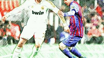 Barcelona real madrid ronaldo messi wallpaper