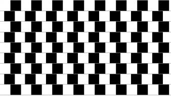 Black and white optical illusions boxes wallpaper