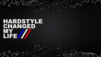 Black stars hardstyle wallpaper