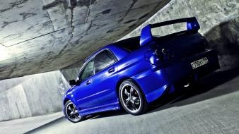 Blue cars subaru vehicles impreza wrx wallpaper