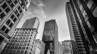 Buildings downtown grayscale boston hdr photography cities wallpaper