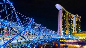 Cityscapes singapore casino marina bay sands helix hotel Wallpaper
