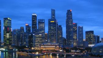Cityscapes singapore skyline Wallpaper