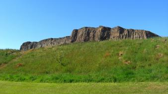 Cliffs scotland hdr photography clear blue sky wallpaper