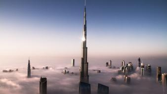 Clouds dubai burj khalifa wallpaper