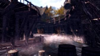 Elder scrolls v: skyrim cities mystic riften Wallpaper