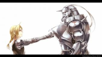 Elric alphonse edward simple background full metal alchemist wallpaper