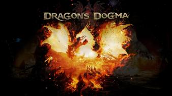 Flames video games dragons dogma wallpaper