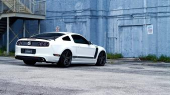Ford mustang boss 302 black stripe white paint wallpaper
