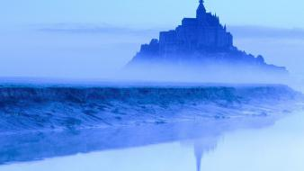 France mont saint-michel viewscape wallpaper