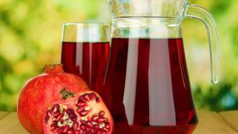 Fruits pomegranate juice wallpaper