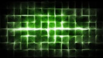 Green abstract lines wallpaper