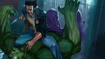 Hulk (comic character) wolverine marvel comics wallpaper