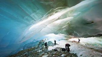 Ice nature argentina glacier caves ushuaia wallpaper