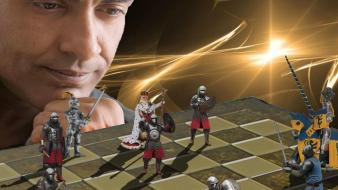 Light soldiers war chess fight wallpaper