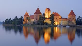 Nature lithuania trakai castle wallpaper