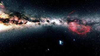 Outer space multicolor galaxies glaxay wallpaper