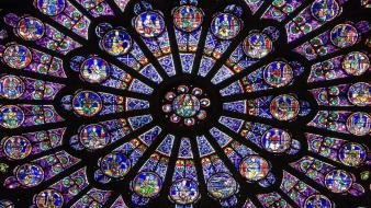 Paris france window cathedral notre dame wallpaper
