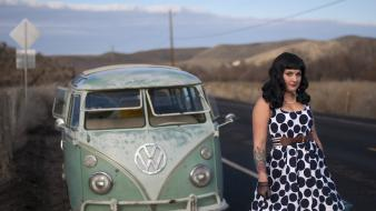 Pinups volkswagen camper pin-up rockabilly wallpaper