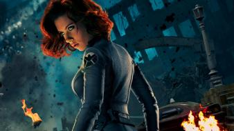 Redheads black widow artwork the avengers (movie) Wallpaper