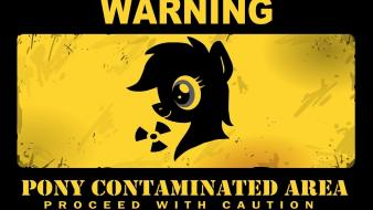 Signs warning my little pony wallpaper