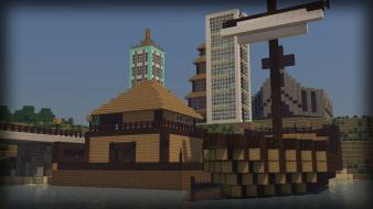 Steve boats church dirt minecraft 2 shipyard wallpaper