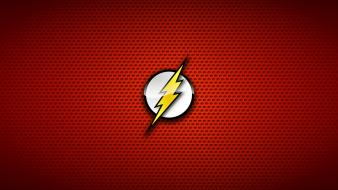 The flash comic hero red background symbols Wallpaper