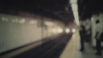 Trains blurred waiting wallpaper