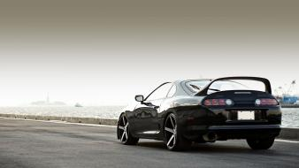 Turbo toyota supra automotive black cars automobiles wallpaper