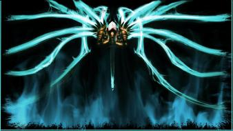 Video games diablo tyrael archangel wallpaper