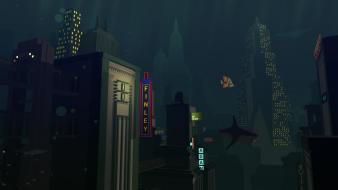 Video games landscapes cityscapes bioshock rapture whales Wallpaper