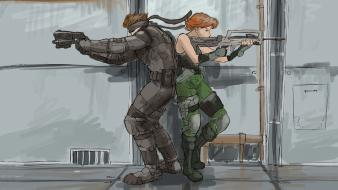 Video games metal gear solid snake meryl silverburgh wallpaper