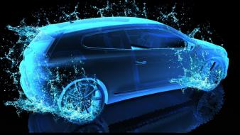 Water abstract cars scirocco volkswagen sports Wallpaper