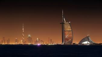 Water cityscapes dubai cities uae wallpaper